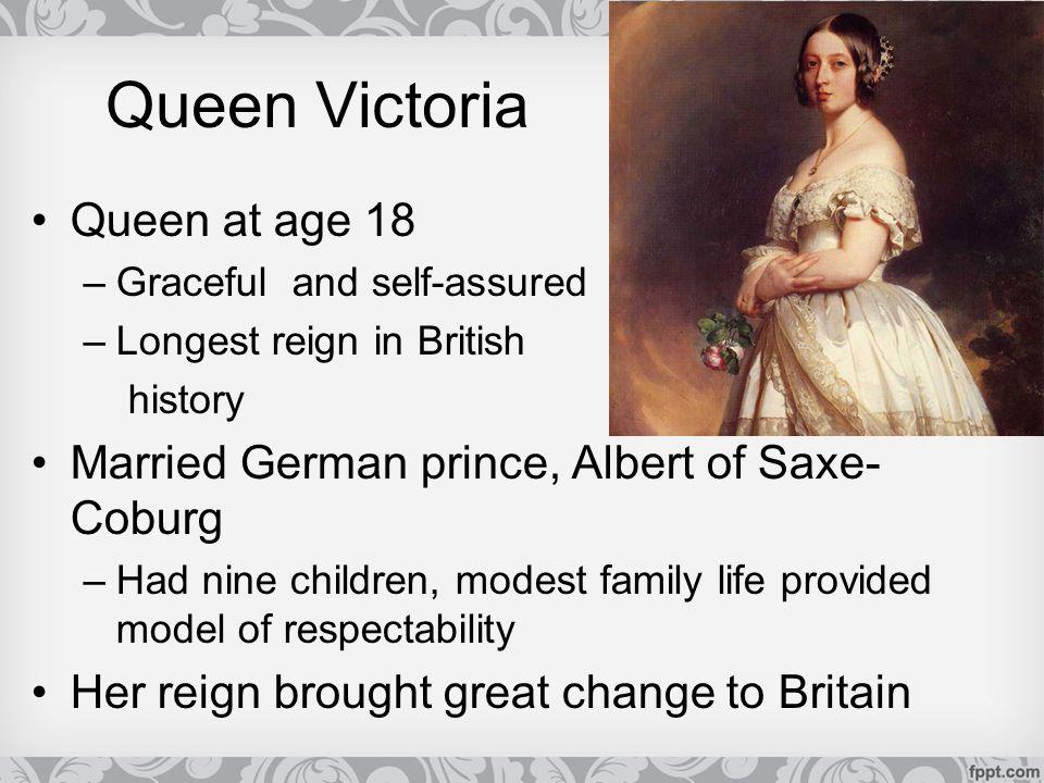 Queen Victoria Queen at age 18