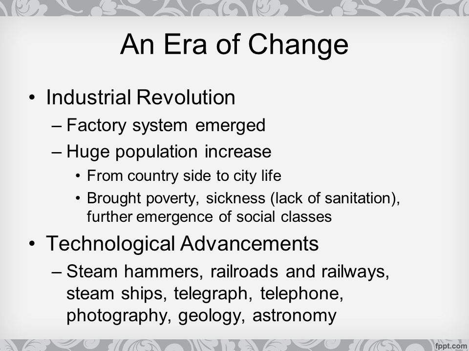 industrial revolution technological advancements and poverty The ignored consequences of technological the industrial revolution exemplifies the it is important to recognize that technological advancements create a.