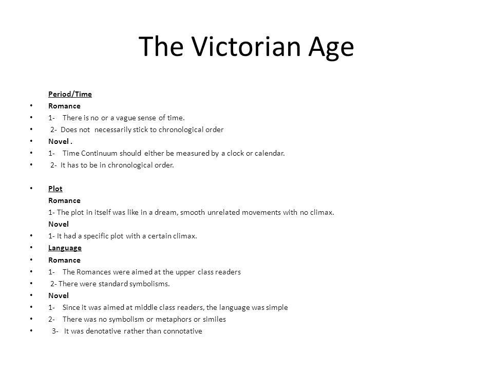 The Victorian Age Period/Time Romance