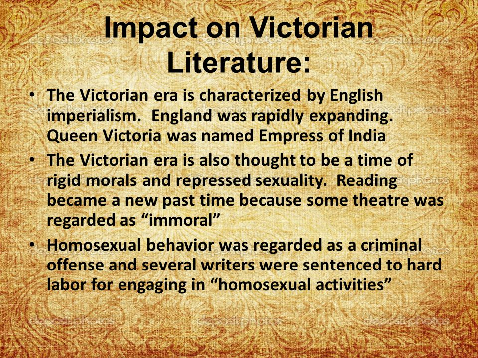 Impact on Victorian Literature: