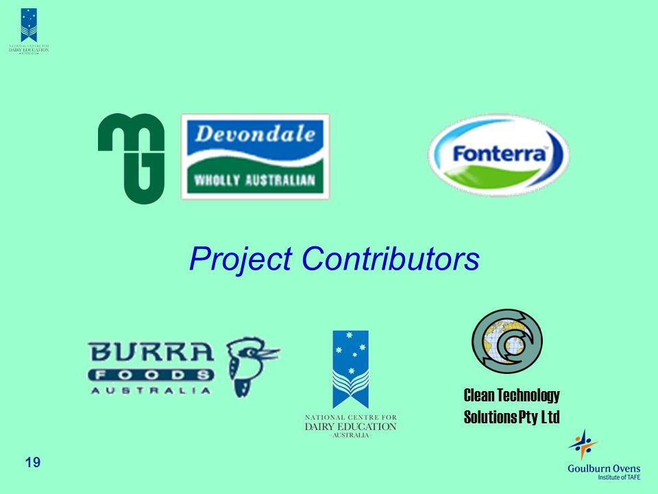 Project Contributors Clean Technology Solutions Pty Ltd