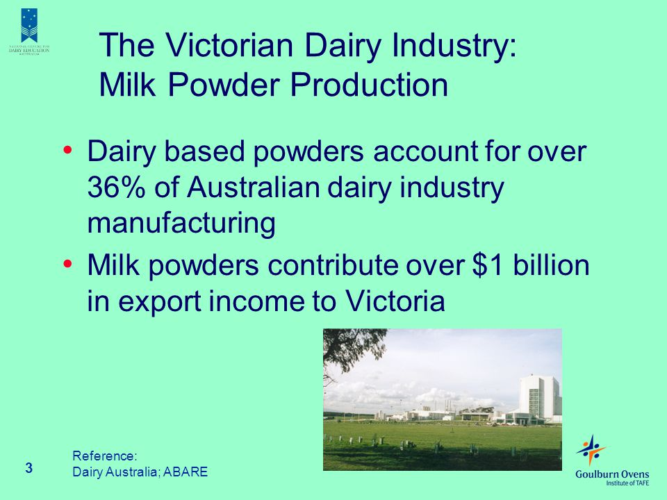 The Victorian Dairy Industry: Milk Powder Production
