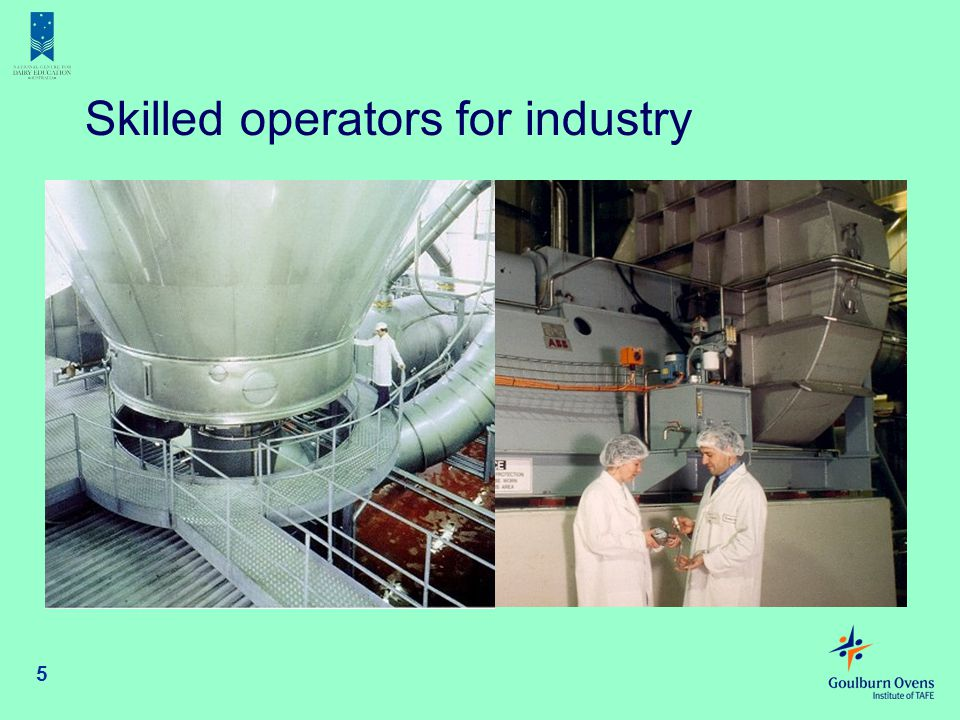 Skilled operators for industry