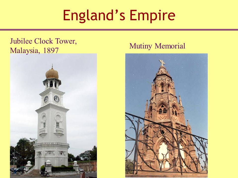 England's Empire Jubilee Clock Tower, Malaysia, 1897 Mutiny Memorial