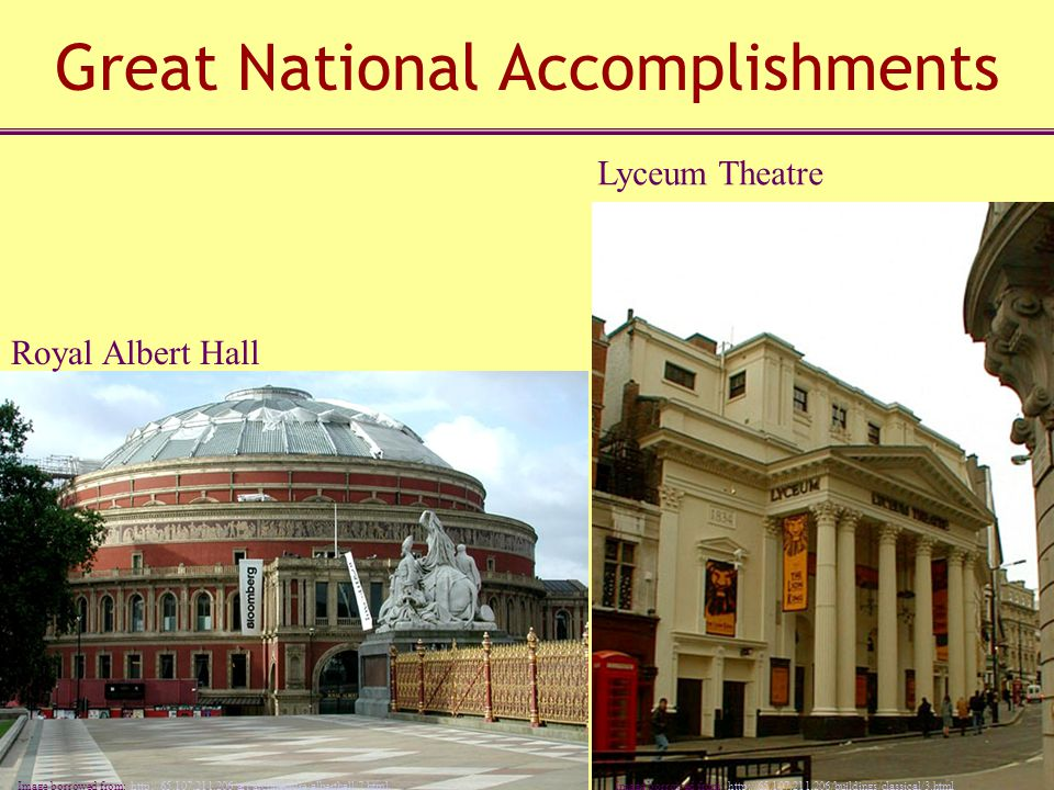 Great National Accomplishments