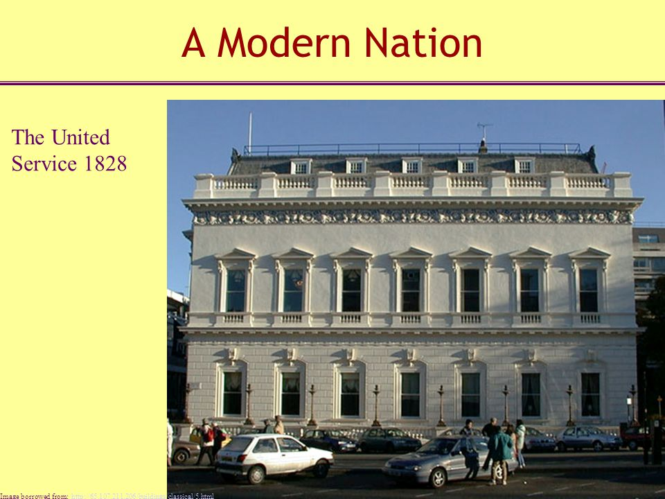 A Modern Nation The United Service 1828