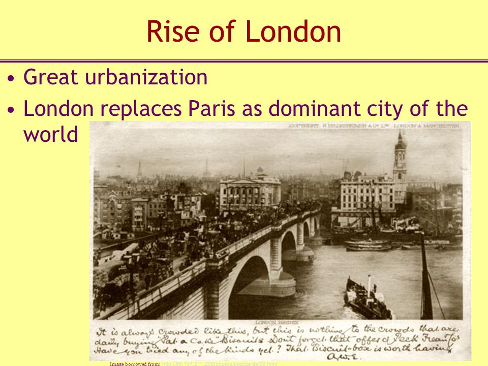 Rise of London Great urbanization