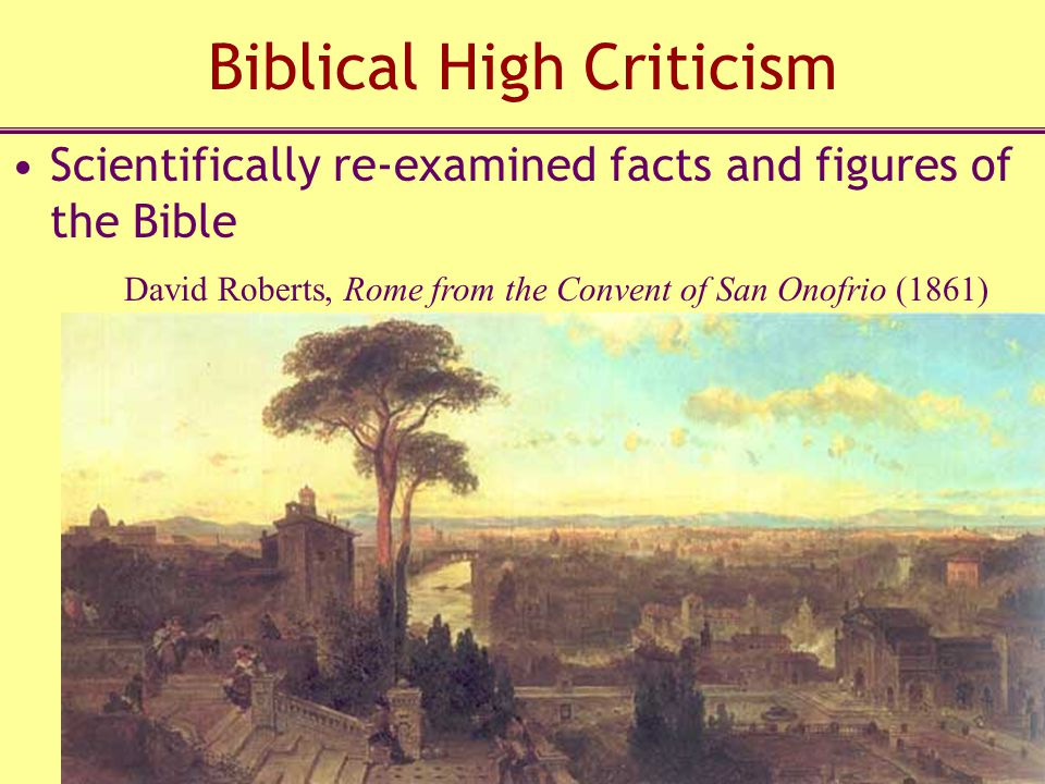 Biblical High Criticism