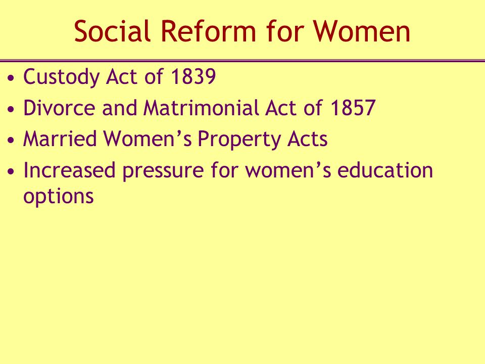 Social Reform for Women