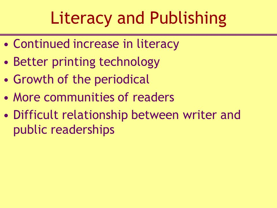 Literacy and Publishing