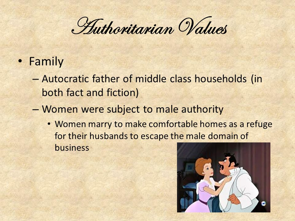 Authoritarian Values Family