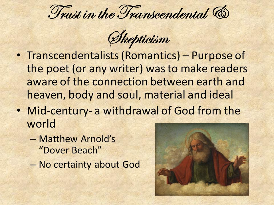 Trust in the Transcendental & Skepticism