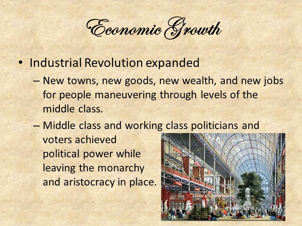 Economic Growth Industrial Revolution expanded