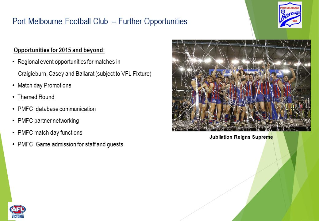 Current Port Melbourne FC Partnerships