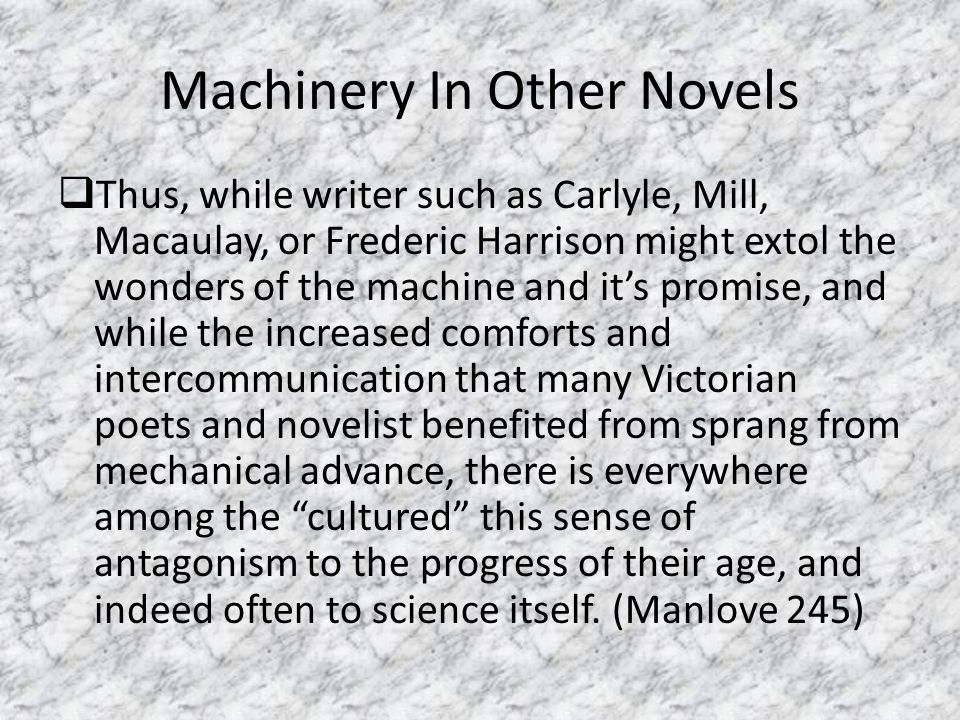 Machinery In Other Novels