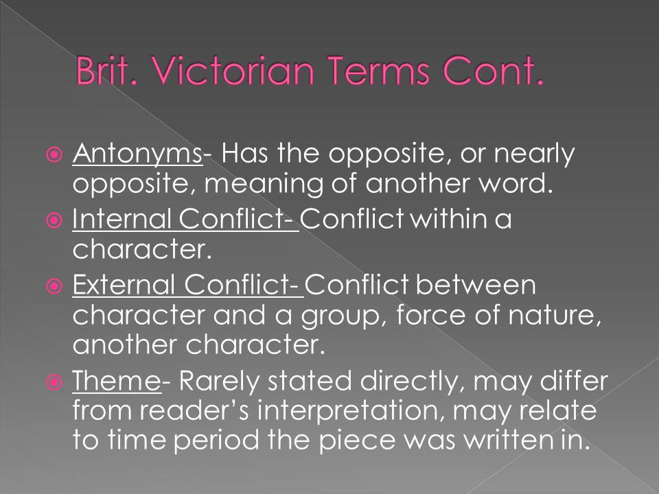 Brit. Victorian Terms Cont.