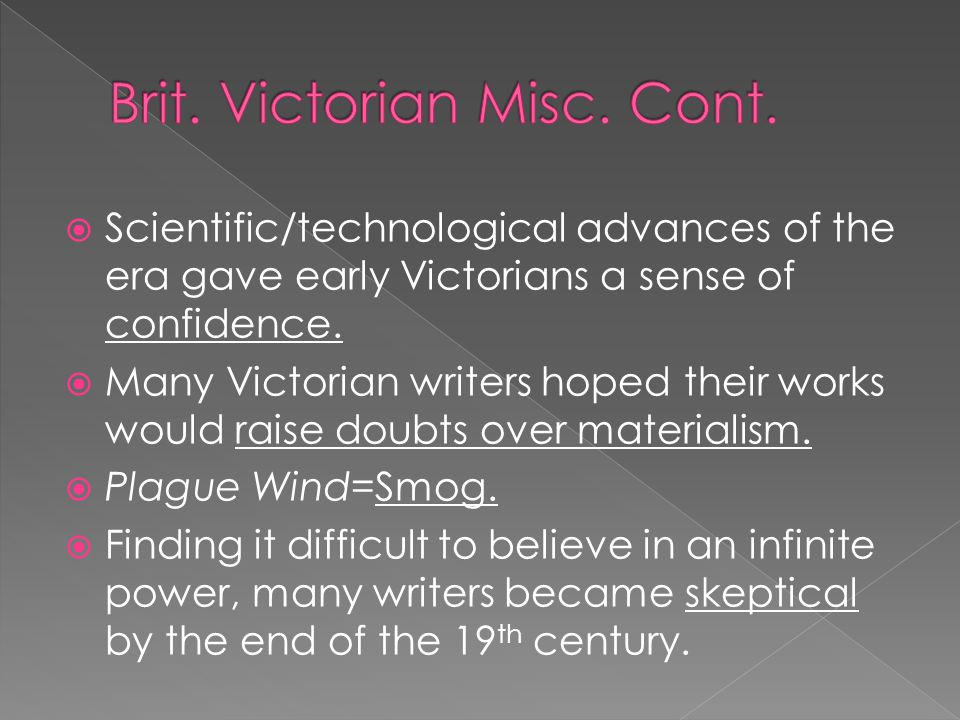 Brit. Victorian Misc. Cont.