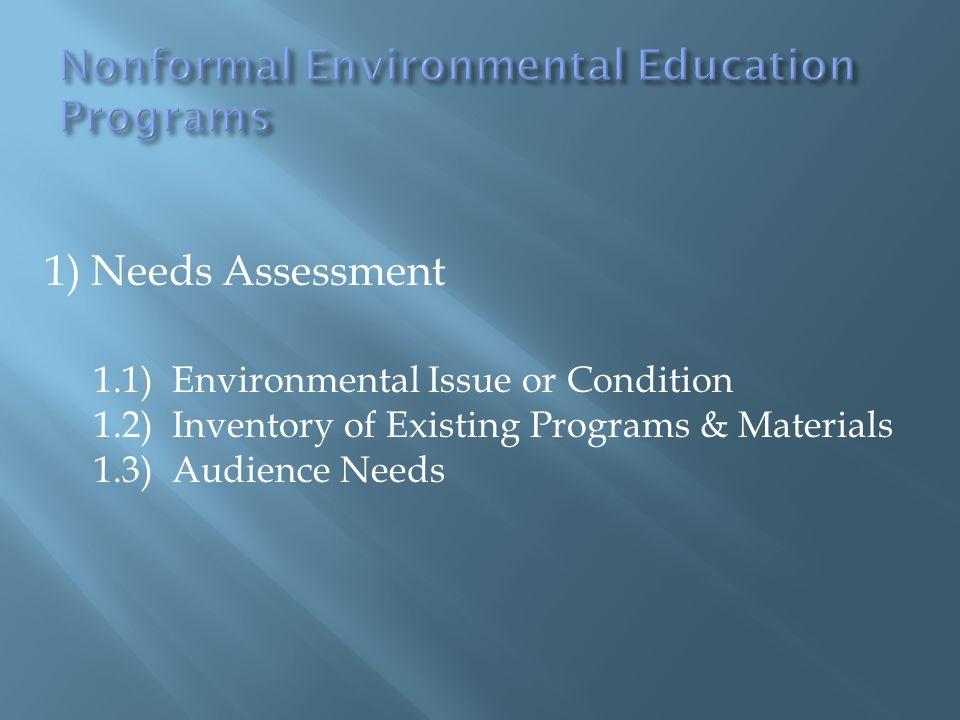 Nonformal Environmental Education Programs