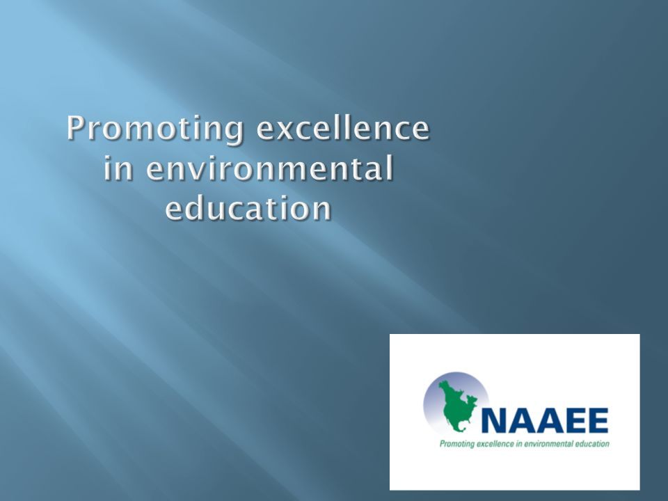 Promoting excellence in environmental education