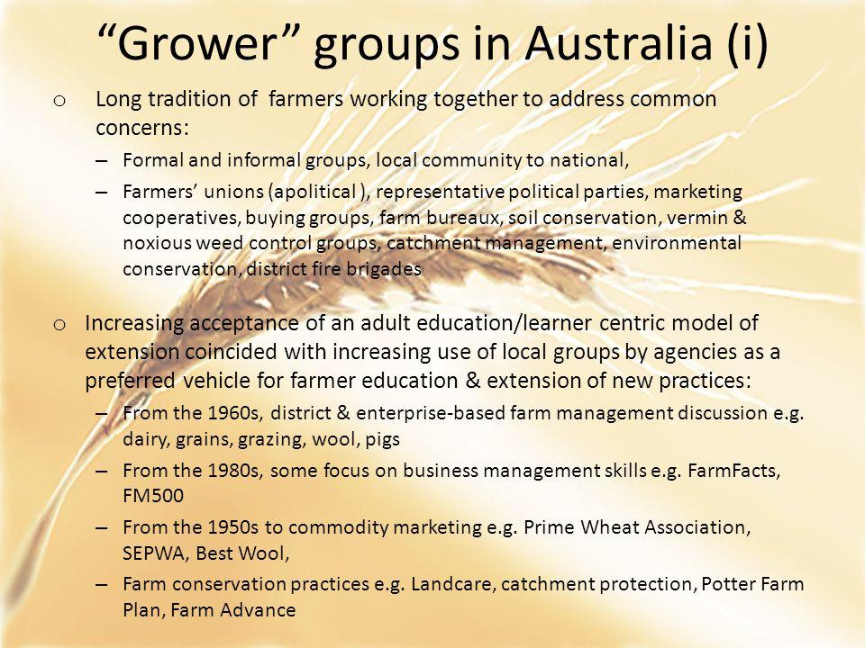 Grower groups in Australia (i)