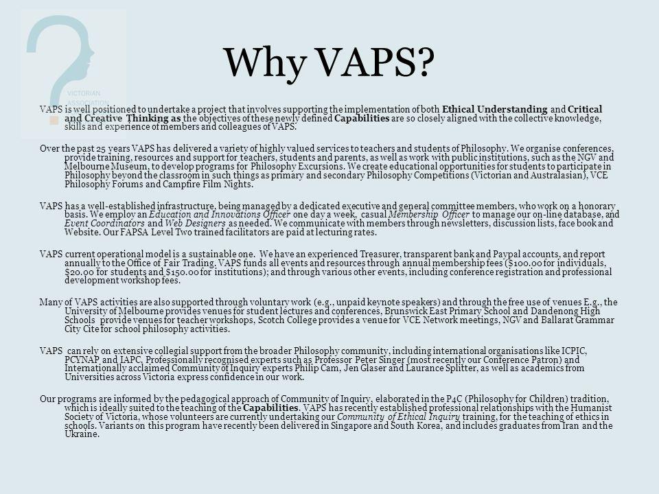 Why VAPS