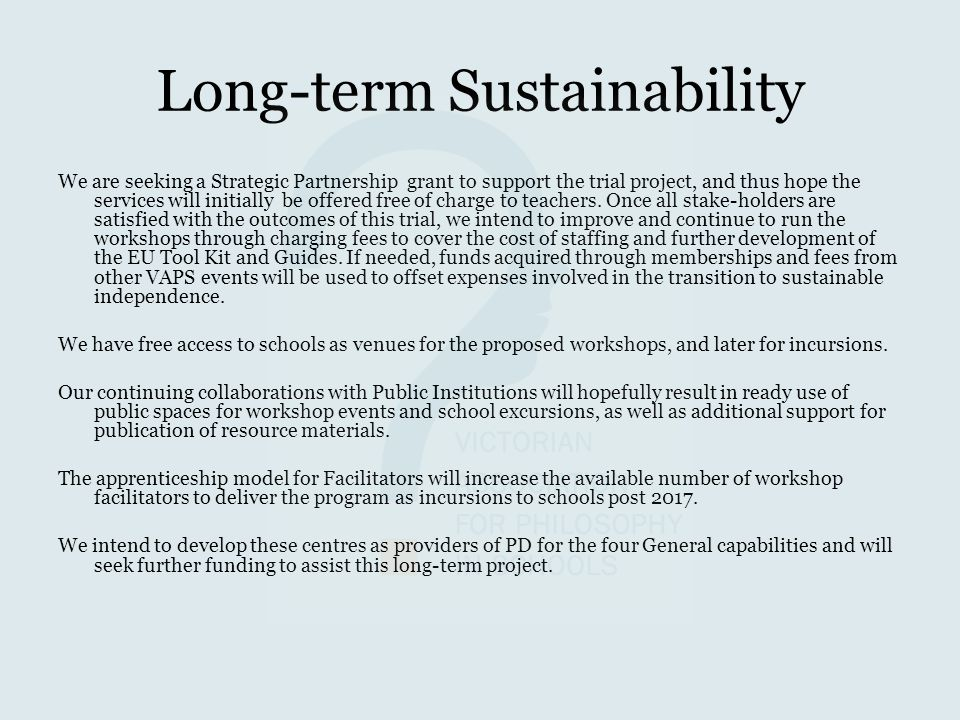 Long-term Sustainability