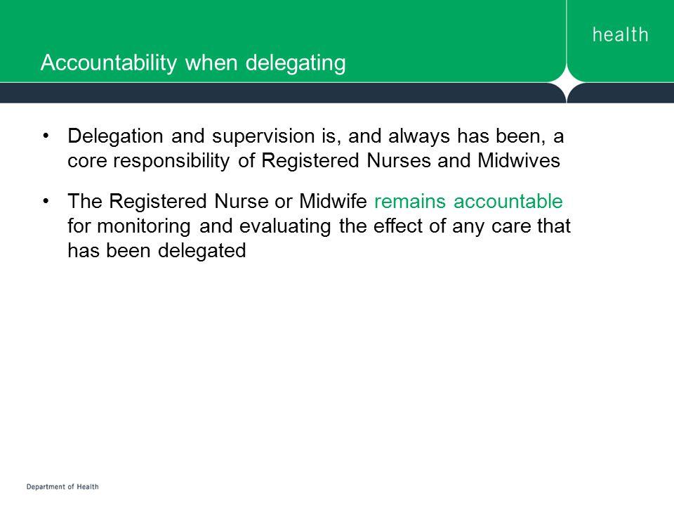 Accountability when delegating