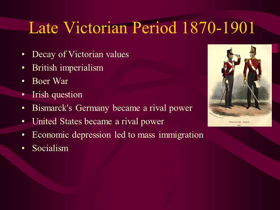 Late Victorian Period 1870-1901
