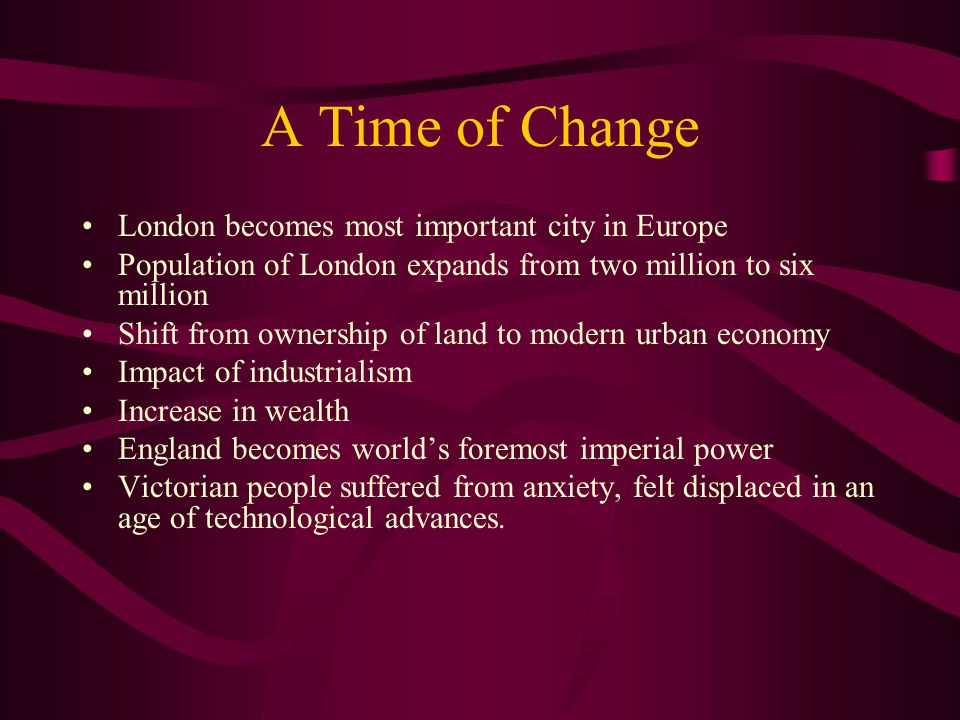 A Time of Change London becomes most important city in Europe