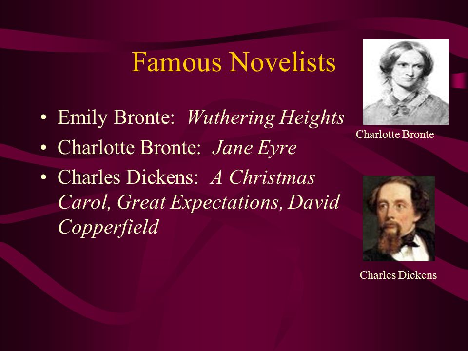 Famous Novelists Emily Bronte: Wuthering Heights