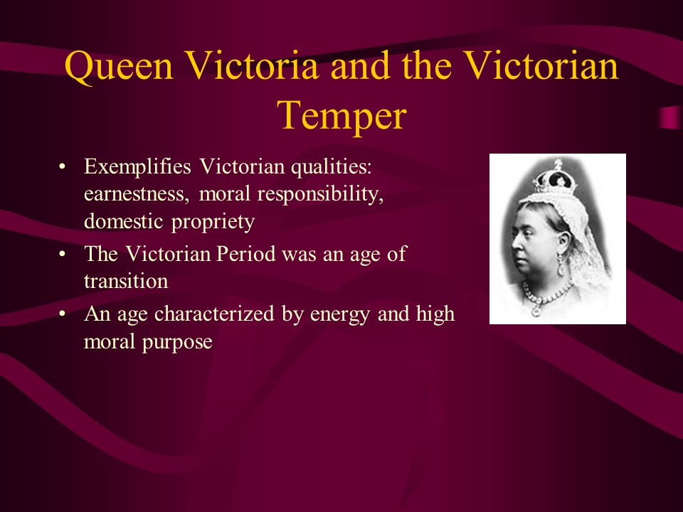 Queen Victoria and the Victorian Temper