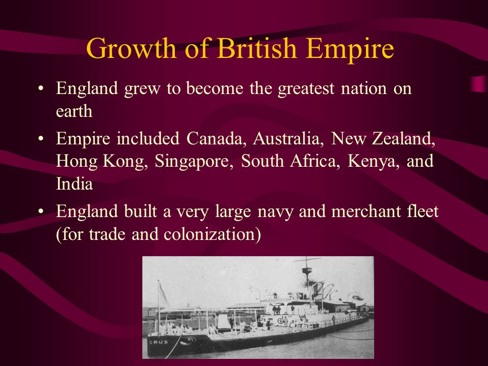 Growth of British Empire