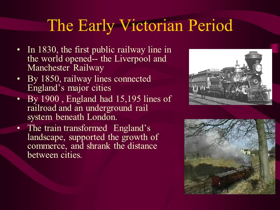 The Early Victorian Period