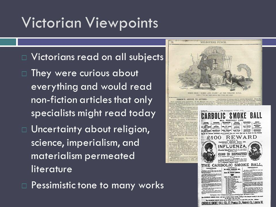 Victorian Viewpoints Victorians read on all subjects