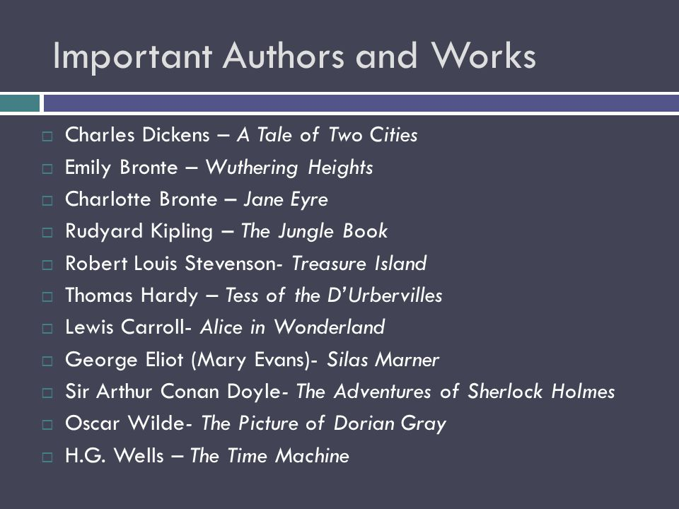 Important Authors and Works