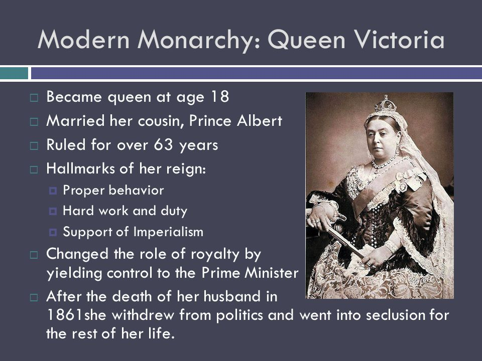 Modern Monarchy: Queen Victoria