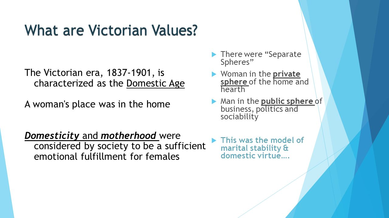 What are Victorian Values
