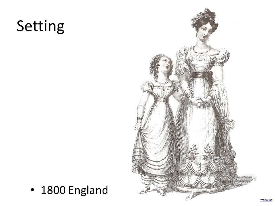 Setting 1800 England.