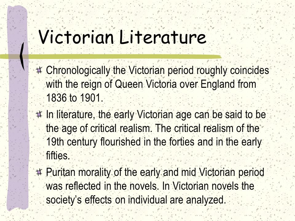 an analysis of the background of the victorian age Historical analysis prostitution, legal during the victorian era, seemed to embody the second of the two categories of women present in victorian society.