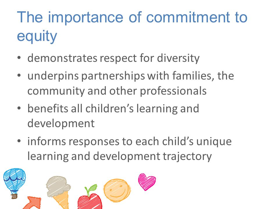 The importance of commitment to equity