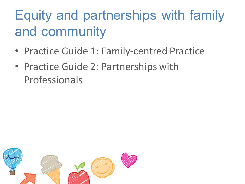 Equity and partnerships with family and community