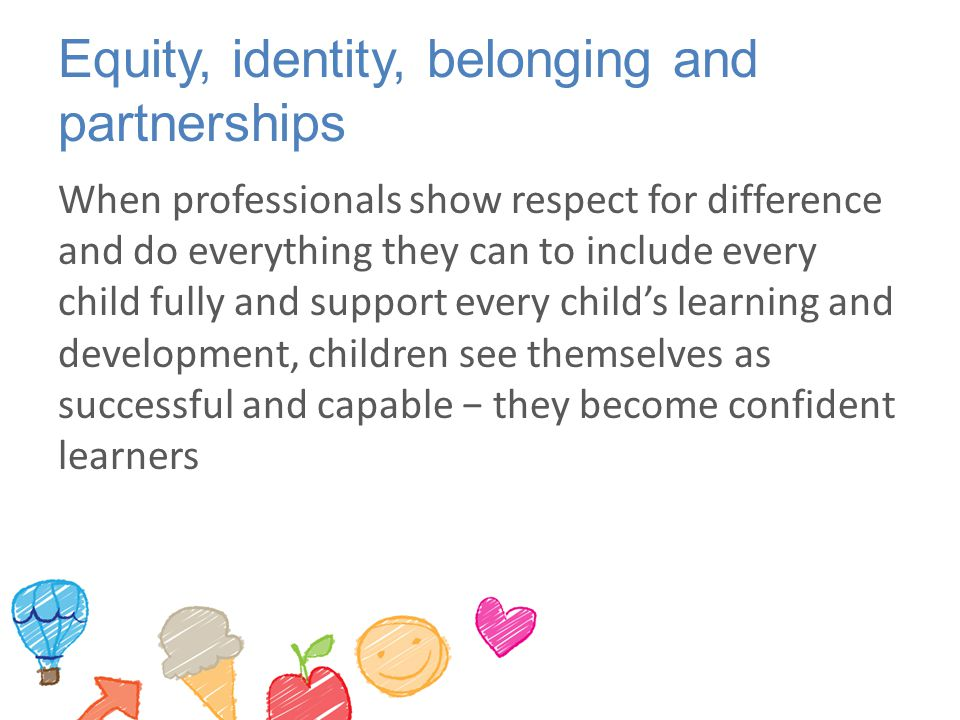 Equity, identity, belonging and partnerships