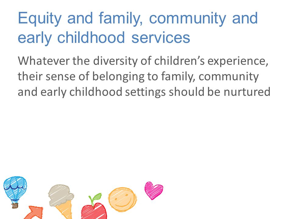 Equity and family, community and early childhood services
