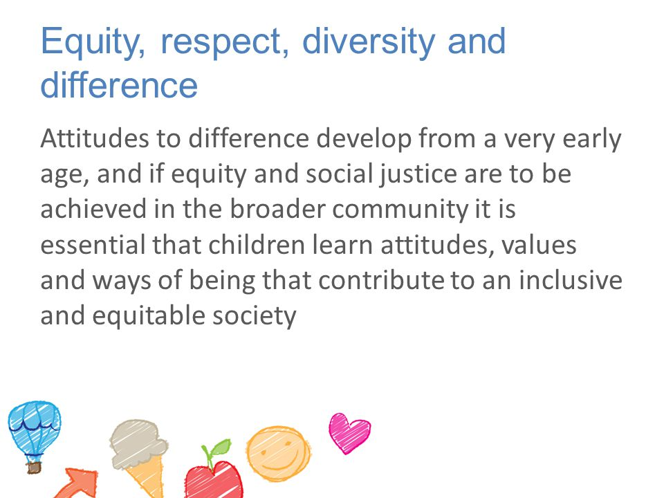 Equity, respect, diversity and difference