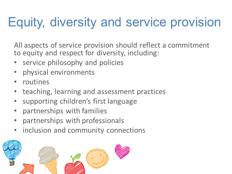 Equity, diversity and service provision