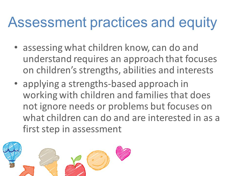 Assessment practices and equity