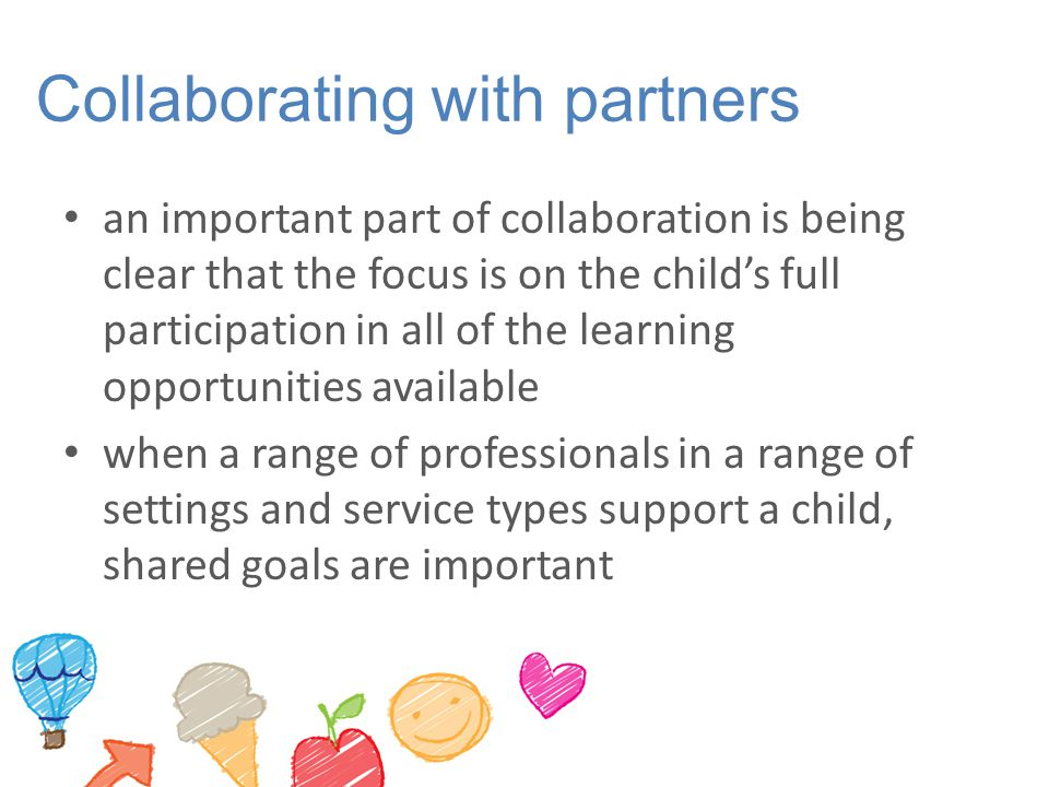 Collaborating with partners