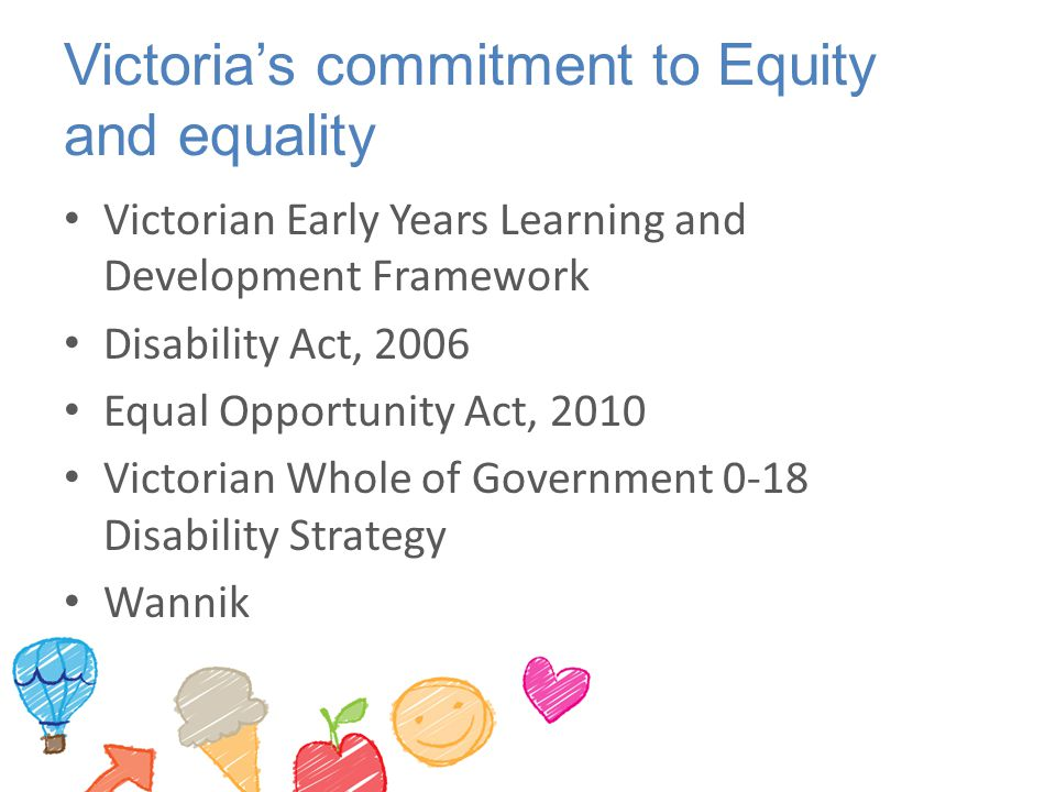 Victoria's commitment to Equity and equality