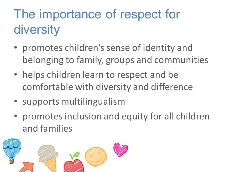 The importance of respect for diversity
