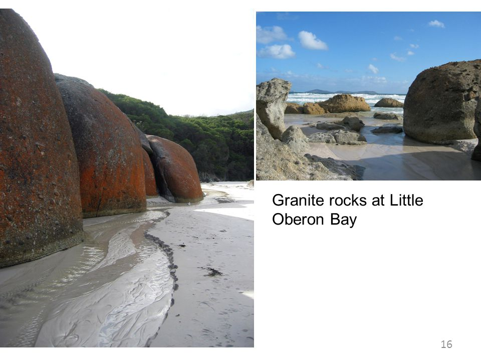 Granite rocks at Little Oberon Bay